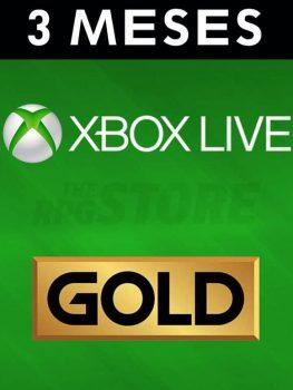 Xbox Live Gold 3 Meses Suscripcion
