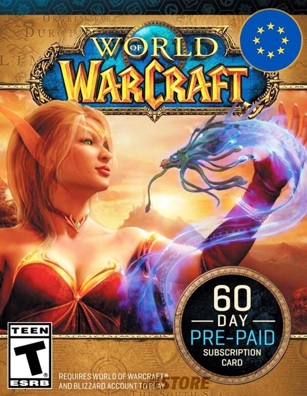 World of Warcraft Tarjeta Prepagada 60 Dias EU
