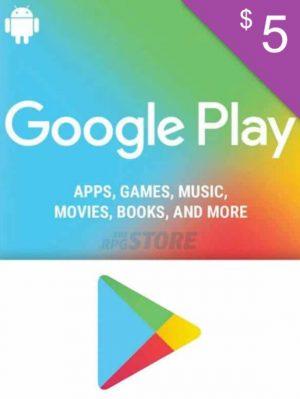 Google Play Gift Card 5 USD