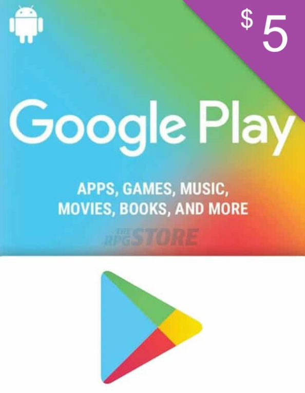 Google Play Gift Card 5 USD
