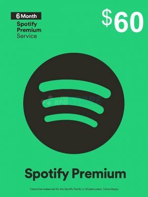 Spotify 60 USD Gift Card