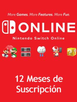 Nintendo Switch Online 12 Meses de Suscripcion